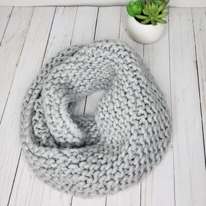 American Eagle Outfitters Gray Wool Loop Scarf